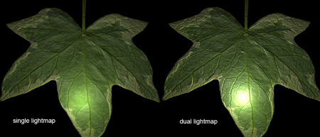 Single and  Dual Lightmap